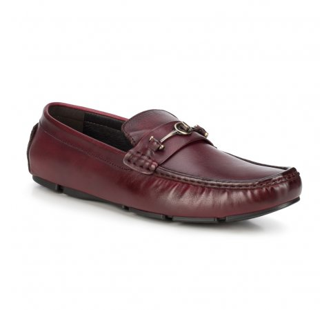 Men's shoes, burgundy, 88-M-801-2-45, Photo 1