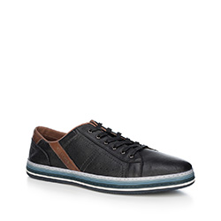 Buty męskie, czarny, 88-M-803-1-39, Zdjęcie 1