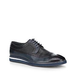 Men's shoes, navy blue, 88-M-807-7-45, Photo 1
