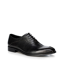 Men's shoes, black, 88-M-813-1-43, Photo 1