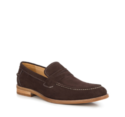 Men's shoes, dark brown, 88-M-817-4-39, Photo 1