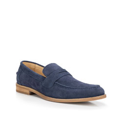 Men's shoes, navy blue, 88-M-817-7-41, Photo 1