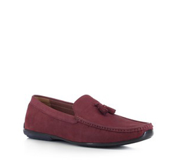 Men's shoes, burgundy, 88-M-905-2-44, Photo 1