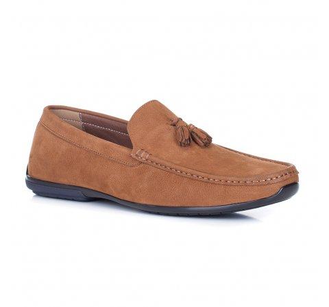 Men's shoes, light brown, 88-M-905-5-41, Photo 1