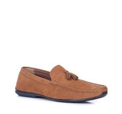Men's shoes, light brown, 88-M-905-5-43, Photo 1