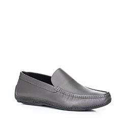 Men's shoes, grey, 88-M-906-8-39, Photo 1