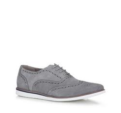 Men's shoes, grey, 88-M-912-8-40, Photo 1