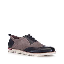 Men's shoes, grey-black, 88-M-913-9-42, Photo 1