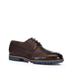 Men's shoes, brown, 88-M-918-4-44, Photo 1