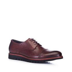 Men's shoes, burgundy, 88-M-921-2-39, Photo 1