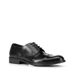 Men's shoes, black, 88-M-927-1-45, Photo 1