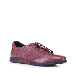 Men's shoes, burgundy, 88-M-936-2-44, Photo 1