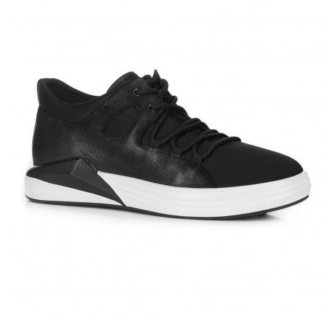 Męskie sneakersy na grubej podeszwie, czarny, 88-M-938-1-41, Zdjęcie 1