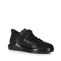 Męskie sneakersy na grubej podeszwie, czarny, 88-M-939-1-42, Zdjęcie 1