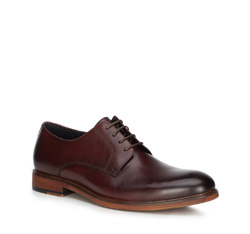 Men's shoes, burgundy, 89-M-501-2-40, Photo 1