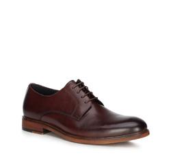 Men's shoes, burgundy, 89-M-501-2-43, Photo 1