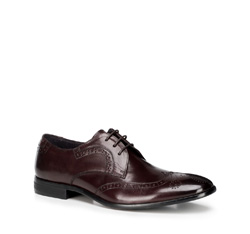 Men's shoes, burgundy, 89-M-505-2-45, Photo 1