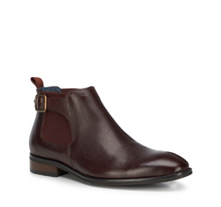 Men's shoes, burgundy, 89-M-511-2-45, Photo 1