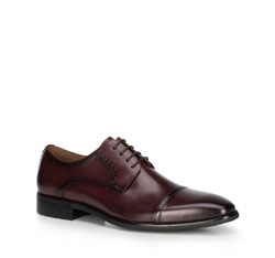 Men's shoes, burgundy, 89-M-903-2-45, Photo 1