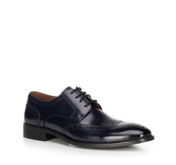 Men's shoes, navy blue, 89-M-905-7-43, Photo 1