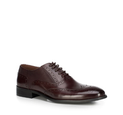 Men's shoes, burgundy, 89-M-906-2-44, Photo 1