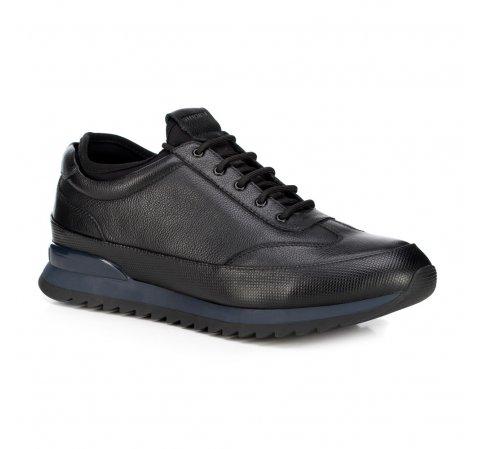 Męskie sneakersy ze skóry, czarny, 89-M-908-7-40, Zdjęcie 1