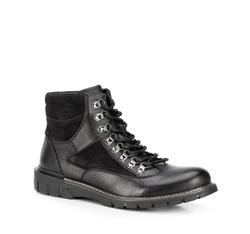 Buty męskie, czarny, 89-M-911-1-45, Zdjęcie 1