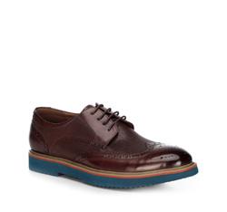 Men's shoes, burgundy, 89-M-916-2-45, Photo 1