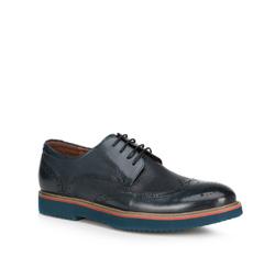 Men's shoes, navy blue, 89-M-916-7-39, Photo 1