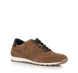 Męskie sneakersy zamszowe, Brązowy, 90-M-301-5-41, Zdjęcie 1