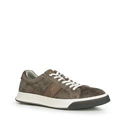 Męskie sneakersy na grubej podeszwie, taupe, 90-M-500-8-45, Zdjęcie 1