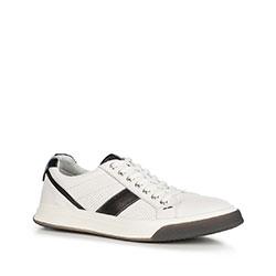 Męskie sneakersy na grubej podeszwie, biały, 90-M-501-0-42, Zdjęcie 1