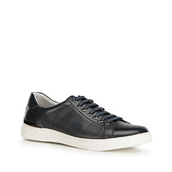 Men's perforated trainers, navy blue, 90-M-502-7-41, Photo 1