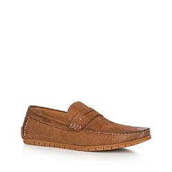 Men's shoes, light brown, 90-M-504-5-44, Photo 1
