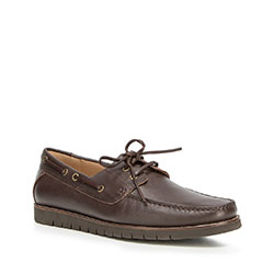 Men's shoes, dark brown, 90-M-505-4-42, Photo 1