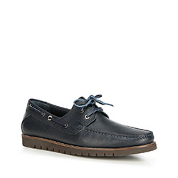 Men's shoes, navy blue, 90-M-505-7-43, Photo 1