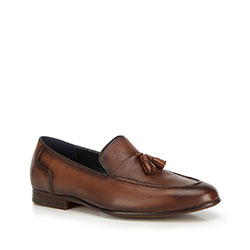 Men's shoes, brown, 90-M-506-4-43, Photo 1