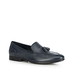 Men's shoes, navy blue, 90-M-506-8-39, Photo 1
