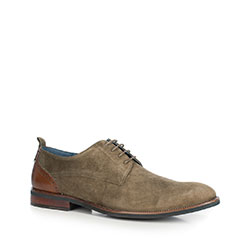 Men's shoes, khaki green, 90-M-507-5-45, Photo 1