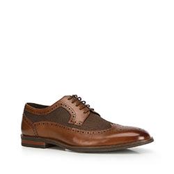 Men's shoes, brown, 90-M-509-5-43, Photo 1