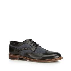 Men's shoes, black-navy blue, 90-M-510-1-42, Photo 1