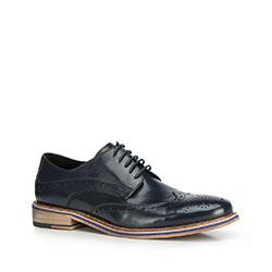 Men's shoes, navy blue, 90-M-512-7-44, Photo 1