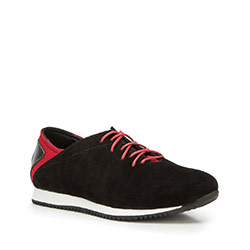 Męskie sneakersy z nubuku, czarny, 90-M-900-1-43, Zdjęcie 1