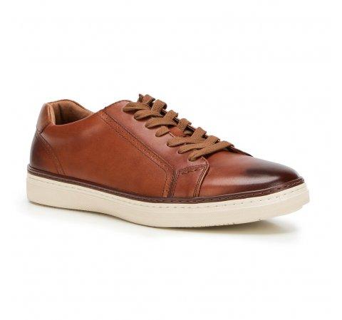 Męskie sneakersy ze skóry, Brązowy, 90-M-901-5-42, Zdjęcie 1