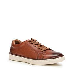 Męskie sneakersy ze skóry, Brązowy, 90-M-901-5-43, Zdjęcie 1
