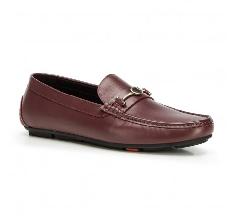Men's shoes, burgundy, 90-M-904-2-42, Photo 1