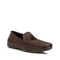 Men's shoes, dark brown, 90-M-905-4-39, Photo 1