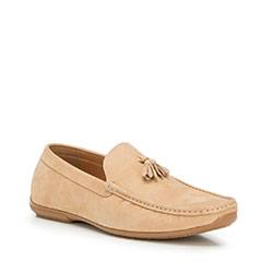 Men's shoes, light brown, 90-M-905-9-39, Photo 1