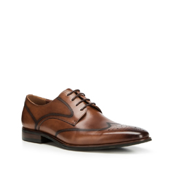 Men's shoes, brown, 90-M-913-4-45, Photo 1