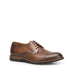 Men's shoes, brown, 90-M-916-4-39, Photo 1